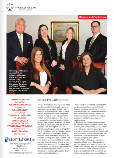Westchester Magazine Profiles of Law